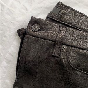 7 for all Mankind textured black spandex pants